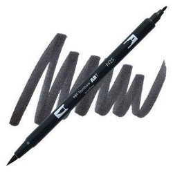 Lamp Black (N25), Tombow Dual Brush Pens - 085014566223