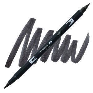 Lamp Black (N25), Tombow Dual Brush Pens - 085014566223
