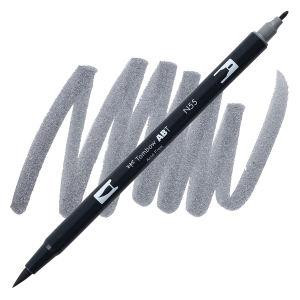 Cool Gray 7 (N55), Tombow Dual Brush Pens - 085014566339