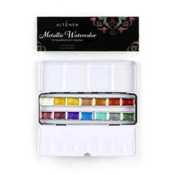 Metallic 14 Pan Set, Altenew Watercolor Paint - 704831299953