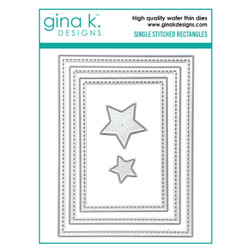 Single Stitched Rectangles, Gina K Designs Dies - 609015540565