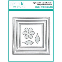 Double Stitched Squares, Gina K Designs Dies - 609015540596