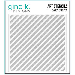 Sassy Stripes, Gina K Designs Stencils - 609015540862