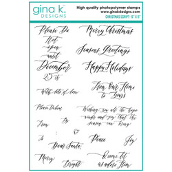 Christmas Script, Gina K Designs Clear Stamps - 609015540503