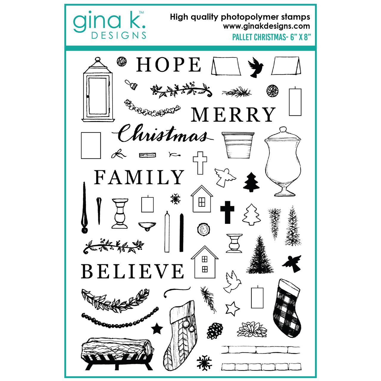 Pallet Christmas, Gina K Designs Clear Stamps - 609015540480