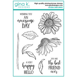 Colossal Coneflowers, Gina K Designs Clear Stamps - 609015540664
