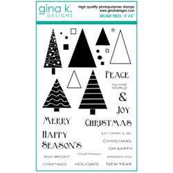 Holiday Trees, Gina K Designs Clear Stamps - 609015540534