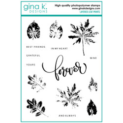 Layered Leaf Prints, Gina K Designs Clear Stamps - 609015540657