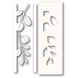 Mistletoe Side Strips and Stencil Set, Poppystamps Dies -