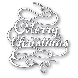 Merry Christmas Flourish, Poppystamps Dies -