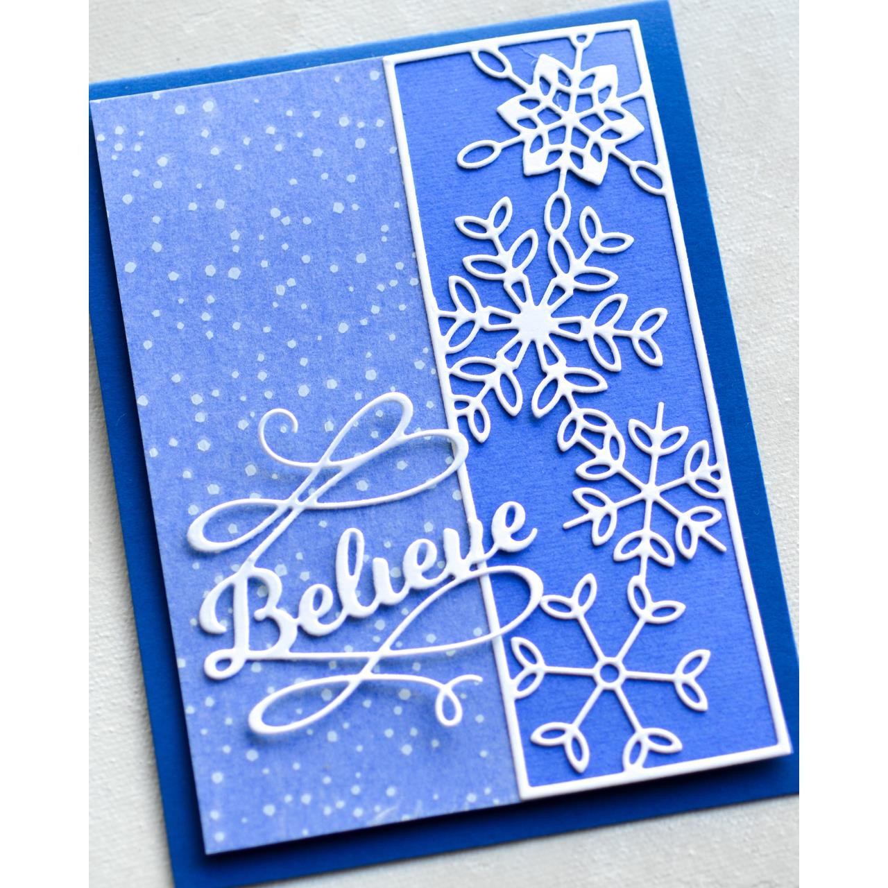 New Memory Box inc Poppy stamps metal cutting die Frosty Snowflake Buttons