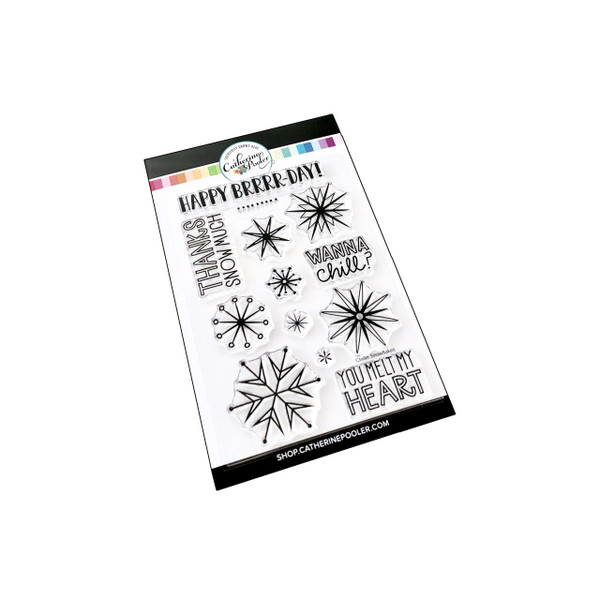 Chillin' Snowflakes, Catherine Pooler Clear Stamps - 819447025107