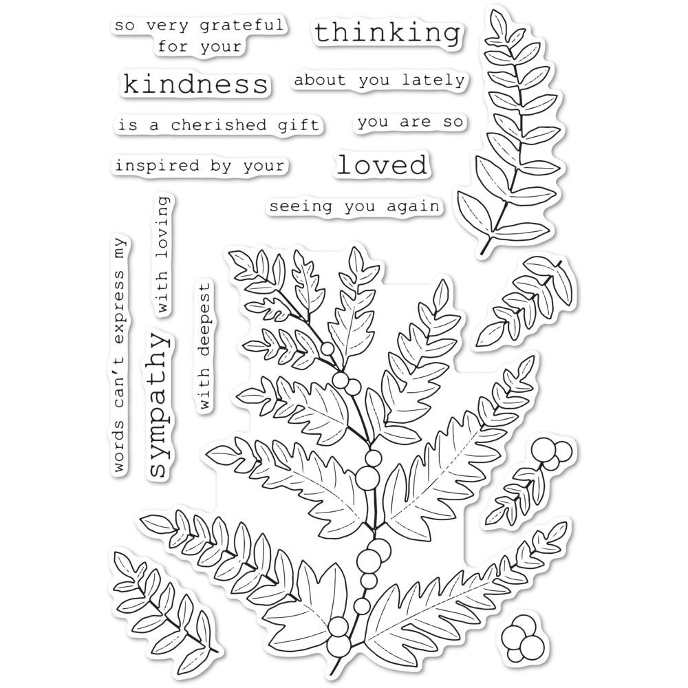 Fern and Berries, Memory Box Clear Stamps - 873980452493