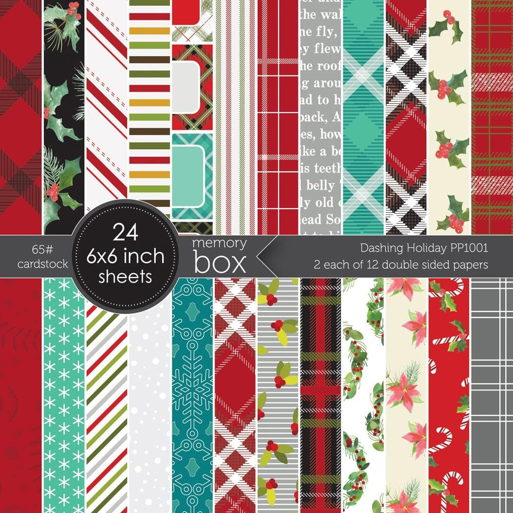 Dashing Holiday, Memory Box 6 X 6 Paper Pad - 873980101575