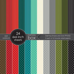 Dashing Stripes and Dots, Memory Box 6 X 6 Paper Pad - 873980101582