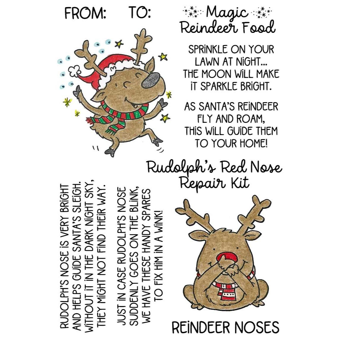 Rudolph & Reindeer Treats, Inky Antics Clear Stamps -