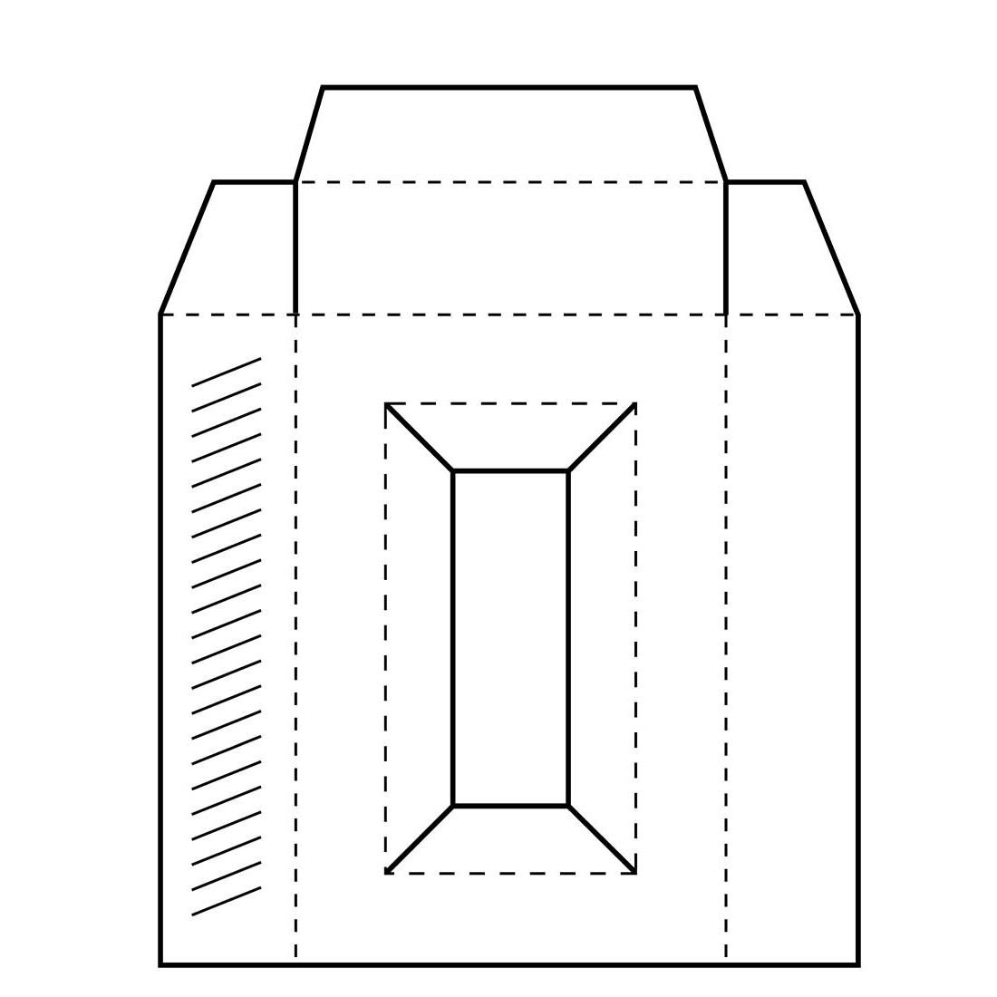 Rectangle Box Template, Inky Antics Cling Stamps -