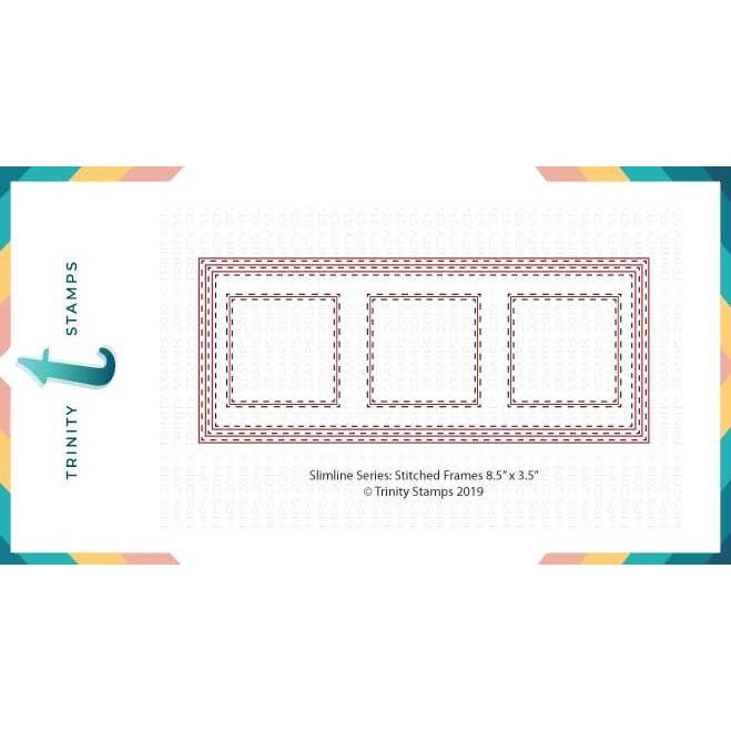 Slimline Die Set: Stitched Frames And Squares, Trinity Stamps Dies -