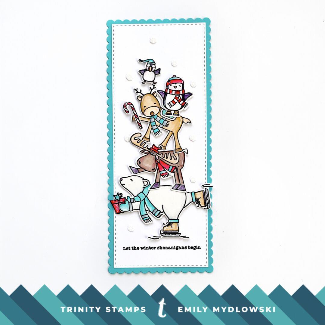 Slimline Die Set: Scallops And Banners, Trinity Stamps Dies -