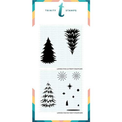 Layered Pine, Trinity Stamps Stencils -