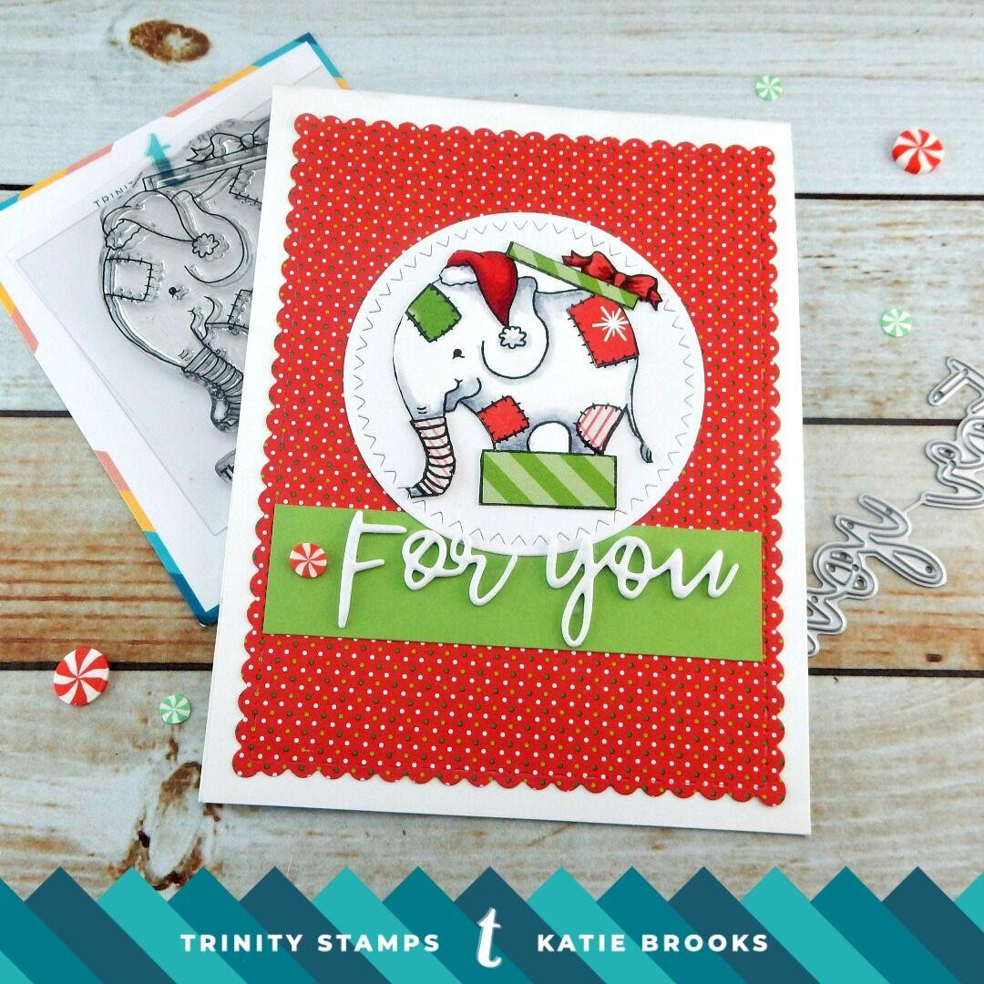 Elephant Gift, Trinity Stamps Clear Stamps -