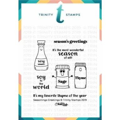 Seasonings Greetings, Trinity Stamps Clear Stamps -