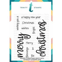 Merry Christmas Senti-mini, Trinity Stamps Clear Stamps -