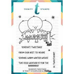Season's Tweetings, Trinity Stamps Clear Stamps -