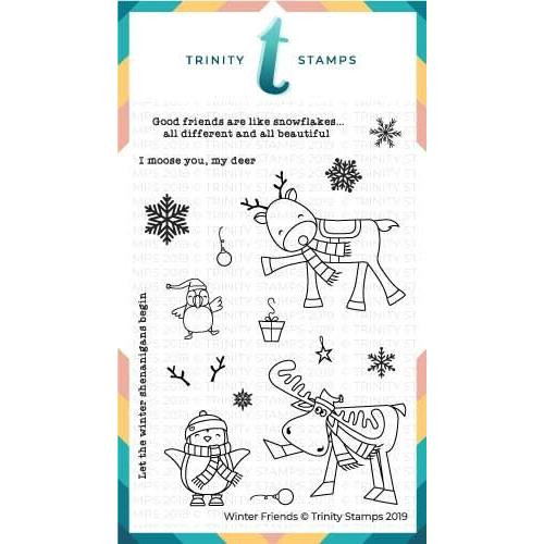 Winter Friends, Trinity Stamps Clear Stamps -