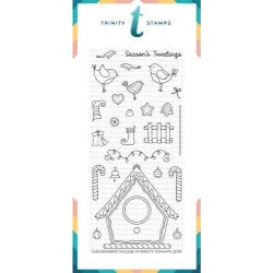 Gingerbird House, Trinity Stamps Clear Stamps -