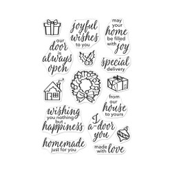 May Your Home Be Filled with Joy, Hero Arts Clear Stamps - 085700924580