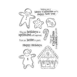 Christmas Gingerbread Cookies, Hero Arts Clear Stamps - 085700924528