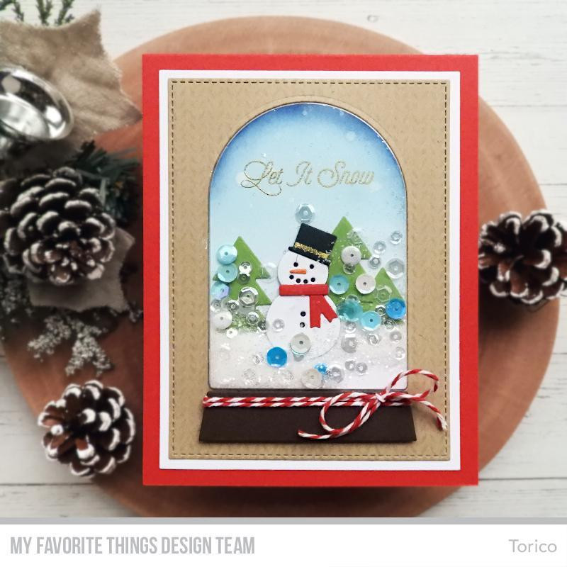 Snow Globe Greetings, My Favorite Things Clear Stamps - 849923032398