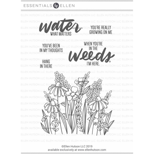 In the Weeds by Brandi Kincaid, Essentials By Ellen Clear Stamps -