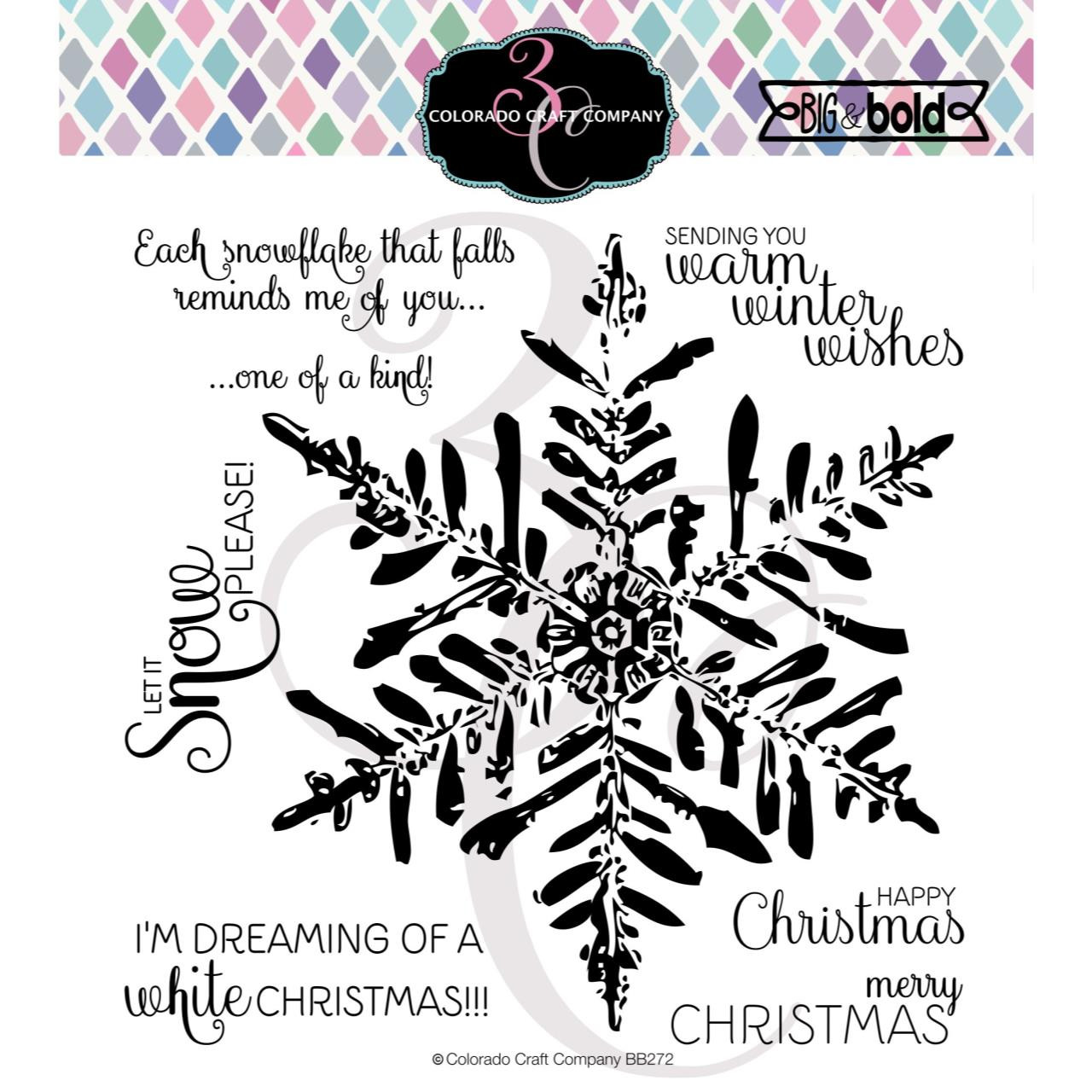 Winter Wishes Snowflake, Colorado Craft Company Clear Stamps - 857287008720