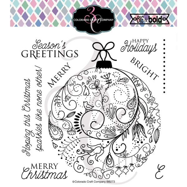 Holiday Ornament, Colorado Craft Company Clear Stamps - 857287008737