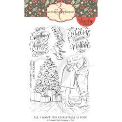Mommy Kissing Santa, Colorado Craft Company Clear Stamps - 857287008768