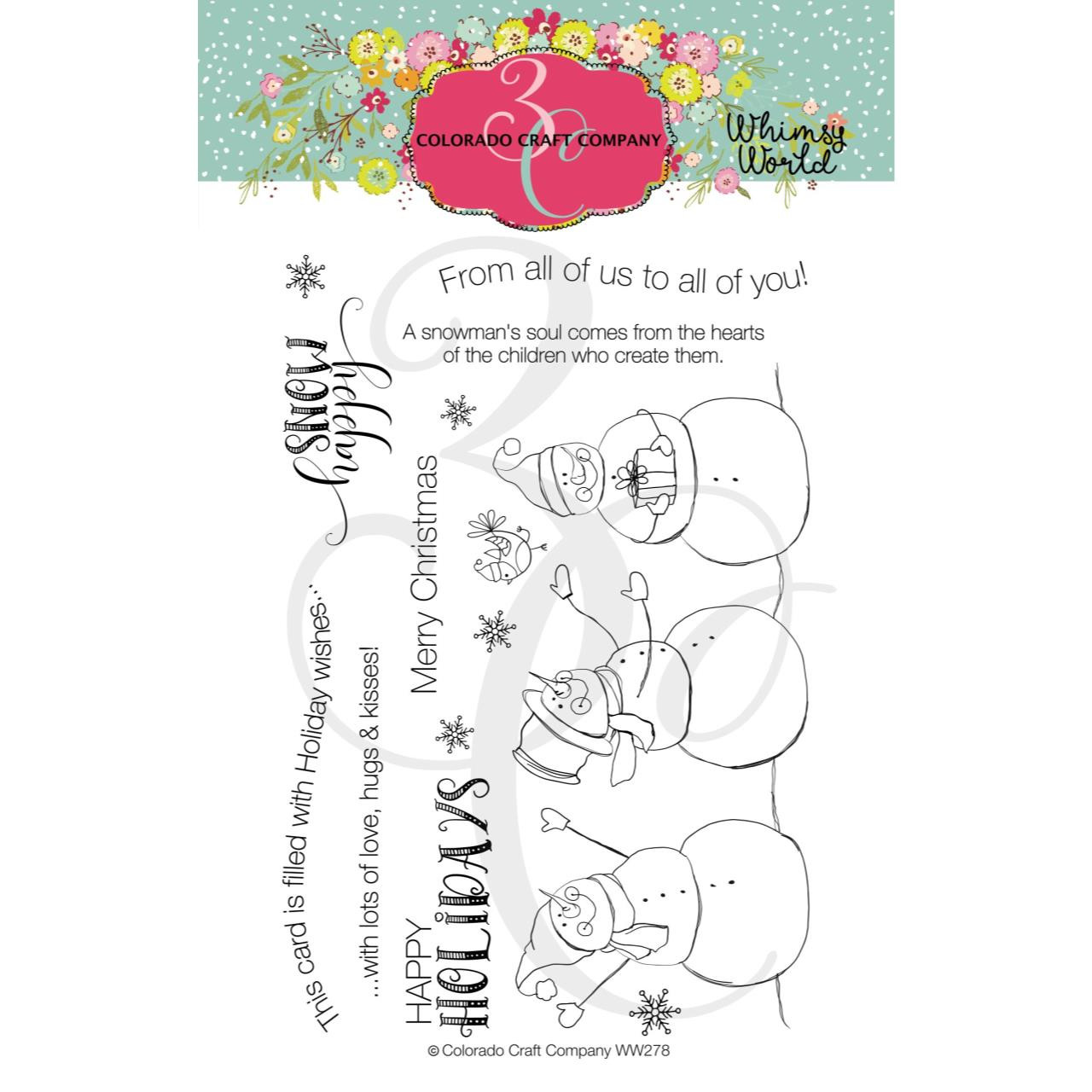 Snow Happy, Colorado Craft Company Clear Stamps - 857287008782