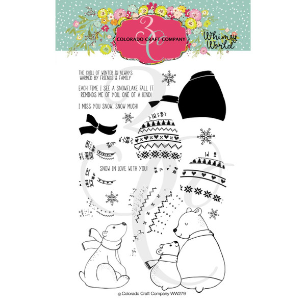 Layering Bears, Colorado Craft Company Clear Stamps - 857287008799