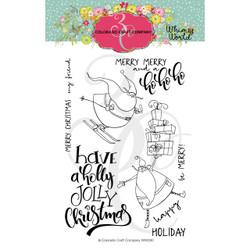 Jolly Santas, Colorado Craft Company Clear Stamps - 857287008805