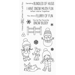 Snow Buddies By Birdie Brown, My Favorite Things Clear Stamps - 849923033012
