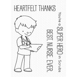 Super Hero In Scrubs By Birdie Brown, My Favorite Things Clear Stamps - 849923033050