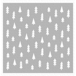 Pine Tree Forest, My Favorite Things Stencils - 849923033173