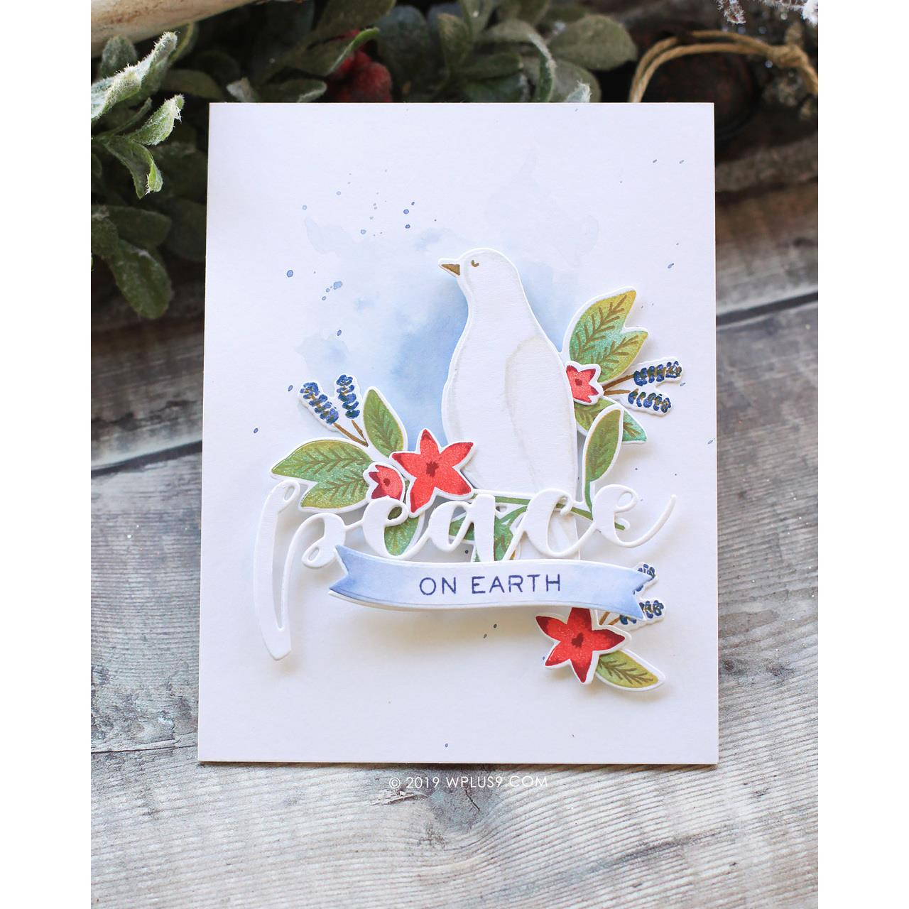 Peaceful Dove, WPlus9 Design Studio Clear Stamps -