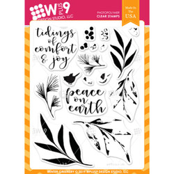 Winter Greenery, WPlus9 Design Studio Clear Stamps -