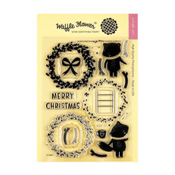 Merry Wreath, Waffle Flower Clear Stamps - 644216565023