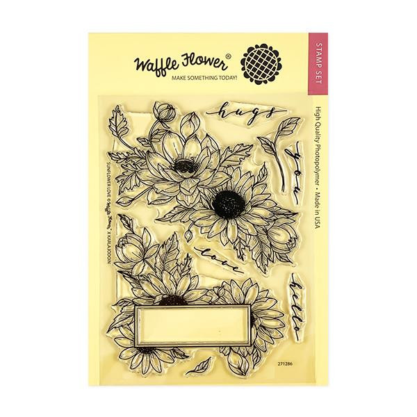 Sunflower Love, Waffle Flower Clear Stamps - 644216567621