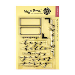Simply Said 1, Waffle Flower Clear Stamps - 644216567720