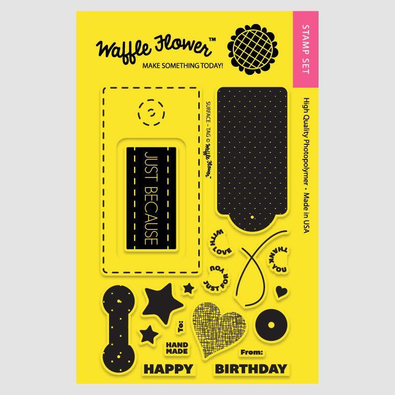 Surface Tag, Waffle Flower Clear Stamps -