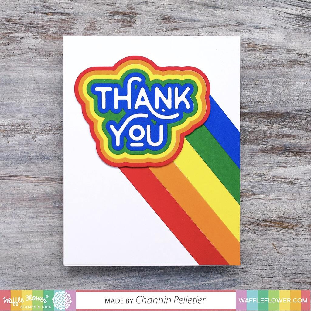 Rainbow Thank You, Waffle Flower Dies - 644216557929